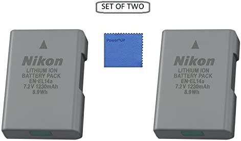 Paquete de 2}  Nikon EN-EL14a Lithium-Ionen-rechargeable battery ...