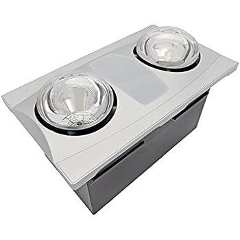 Aero Pure A515a S Quiet Bathroom Fan With Heat And Light Silver Heat Lamp Bathroom Amazon Com