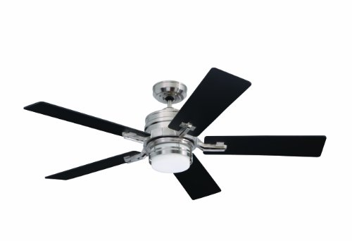 - Emerson Ceiling Fans CF880BS Amhurst Indoor Ceiling Fan with Light And Wall Control, 54-Inch Blades, Modern Ceiling Fans in Brushed Steel Finish