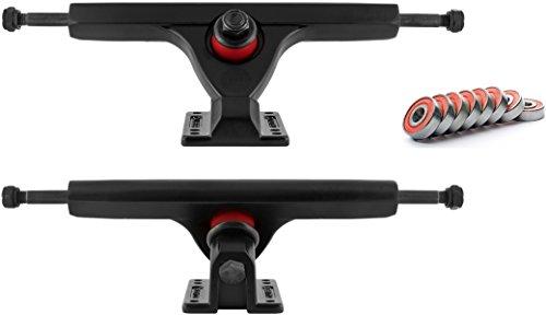 ペインティングシエスタ存在Caliber II Black Longboard Trucks 44 Degree With Bearings by Caliber
