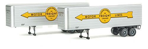 Walthers HO Scale 35' Fluted-Side Truck Trailers 2-Pack Cooper Jarrett, Inc. (Trailer Ho Pack 2 Scale)