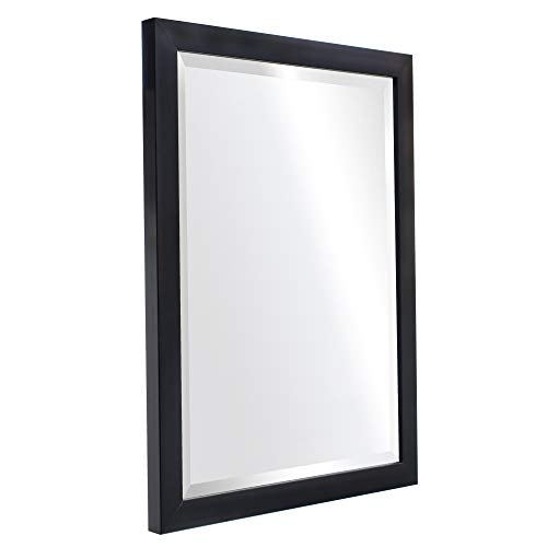 """Clean Modern Black Frame Wall Mirror Contemporary Style Mirror for Bathroom Mirror for Living Room for Bedroom Makeup Mirror (16"""" x 20"""")"""