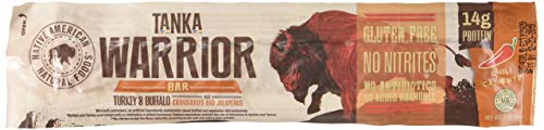 Meat Bar made with Buffalo, Turkey and Cranberries by Tanka, Chile Caliente, 2 Ounce Bar, Pack of 6 Review