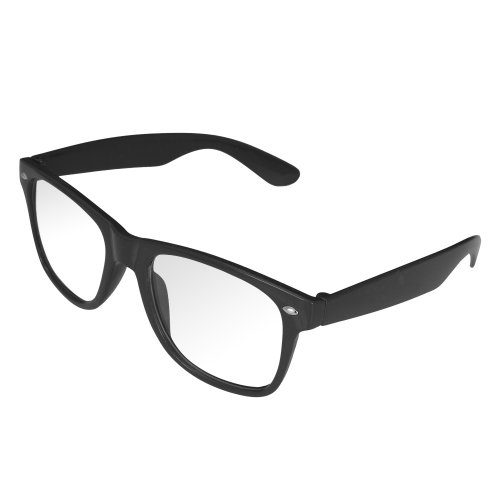 Red transparentes sol de Black gafas Gafas Black Retro 4sold mixtas Black con Geek Geek Protection Uv400 Clear Look RwYvO6Aq