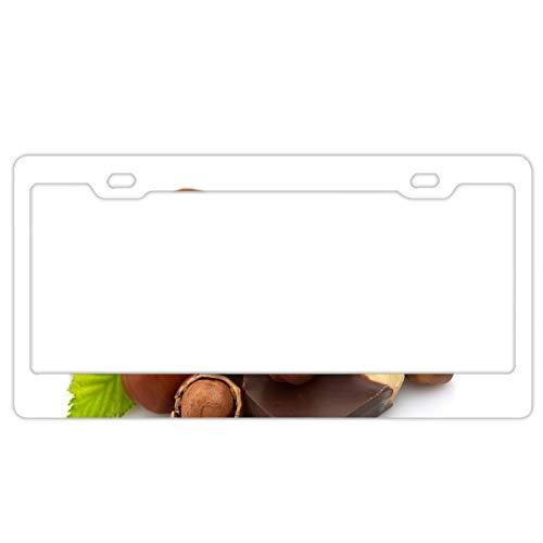 Imtailang Slim Style Polished Alumina License Plate Frame Mirror Finish 2 Holes Chocolate Hazelnut Walnut Sweet
