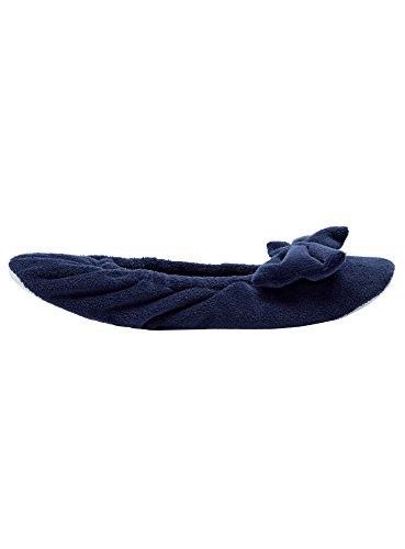 oodji Ultra Mujer Zapatillas de Casa con Lazo Azul (7900N)