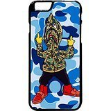 - Bape Shark Hoodie Case / Color Black Rubber / Device iPhone 6 Plus/6s Plus