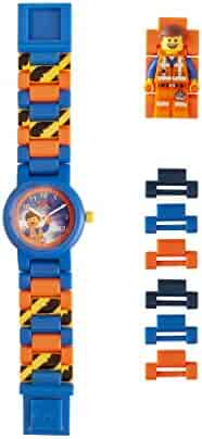 LEGO Watches and Clocks Boy's 'LEGO Movie 2 Emmet' Quartz Plastic Watch, Color:Blue (Model: 8021445)