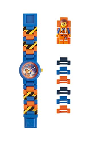 LEGO Watches and Clocks Boy's 'LEGO Movie 2 Emmet' Quartz Plastic Watch, Color:Blue (Model: 8021445) ()