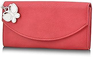 Butterflies Women's Wallet (Red) (BNS 2320 RD)