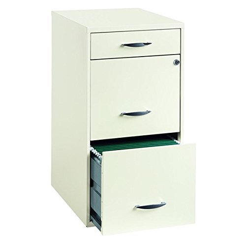 Contemporary White Metal 3 Drawer Vertical File Cabinet by Vertical File Cabinets