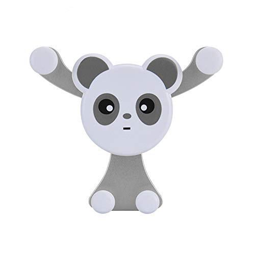 - HsgbvictS Phone Holder Interior Decoration Phone Holder Lovely Panda Design G-Sensor Car Air Vent Mount Mobile Phone GPS Holder Bracket - Silver Cute Panda