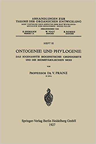 Ontogenie Und Phylogenie: Das Sogenannte Biogenetische ...