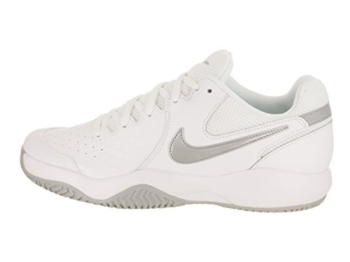 Multicolore WMNS Silver Resistance wolf de Chaussures Grey Femme NIKE 101 Tennis White Air Metallic Zoom fwqdT8H