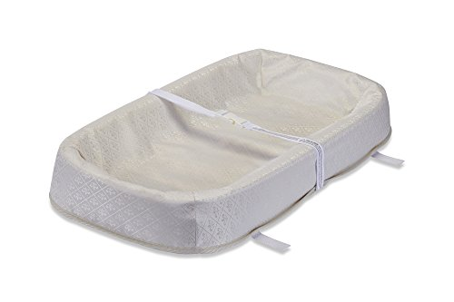 "LA Baby 4 Sided Changing Pad with Organic Layer, 32"" - Made in USA. Easy to Clean Waterproof Cover w/Non-Skid Bottom, Safety Strap, Fits All Standard Changing Tables for Best Infant Diaper Change"