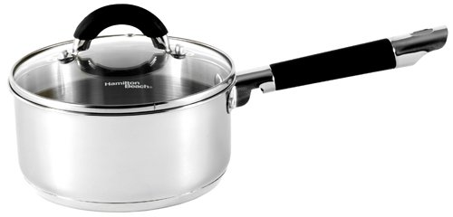Hamilton Beach 94106 Contempo 2 Quart Covered Sauce Pan, Stainless Steel