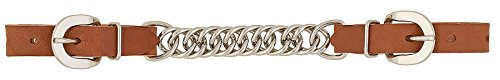 Weaver Leather Horizons Single Flat Link Chain Curb Strap, 4 1/2-Inch, Golden Brown
