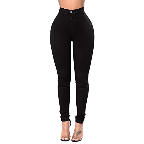 Jeans Leggings Taille conqueror de Femmes Haute Skinny Pantalon Pantalon pour Sport Noir Slim Slim Rdaax