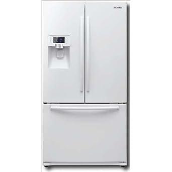white french door refrigerator.