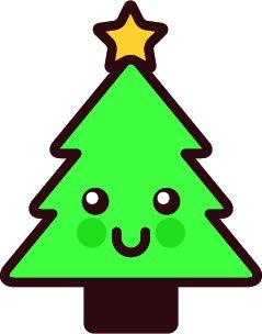 adorable cute kawaii merry christmas object cartoon vinyl sticker christmas tree amazon in car motorbike amazon in