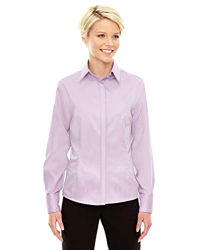 Ash City - North End North End Ladies Refine Two-Ply 80's Cotton Oxford Shirt, Small, Orchid Prpl -