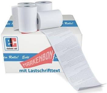 EC Cash Thermorollen BPA-Frei 50 Rollen - markenbon 18m passend f/ür Ingenico Move //5000