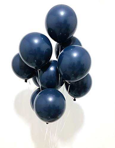 (Sorive Navy Blue Latex Balloons 12 inch Small Party Balloons Pack of 100 for Wedding Baby Shower Birthday Party Decorations)