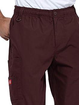 Dickies Men's Zip Fly Pull On Pant (Regular) in Black from Dickies Medical