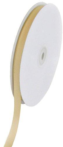 Creative Ideas Solid 3/8-Inch Grosgrain Ribbon, 50-Yard, Toffee (Toffee Ribbon)