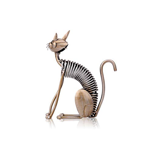 Magic Magic Shop Metal Figurine Iron Art Decoration Cat Shape Handicraft Crafting Figurine Art Decoration Modern Home Decoration Ornament,Sitting Cat