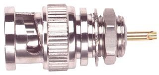 Pomona 4979 BNC Male Bulkhead Receptacle, 50 ohms Nominal Impedance, 1.19
