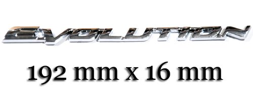 Amazon Com Mitsubishi Lancer Evolution Evo 10 Chrome Logo Sign