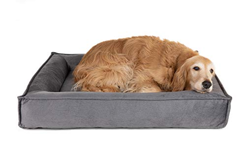 Petsbao Orthopedic Dog Bed Solid with Memory Foam, Tear Resistant, Removable Waterproof Dog Bed Cover and Sizes Ideal for Arthritis, Hip Dysplasia, and Aging Dogs