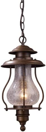 Elk 62006-1 Wikshire 1-Light Outdoor Pendant, 16-Inch, Coffee Bronze