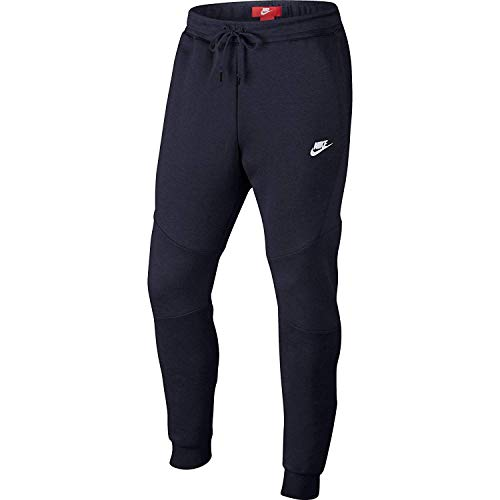 Nike Mens Sportswear Tech Fleece Jogger Sweatpants Obsidian Blue/White 805162-455 Size X-Large