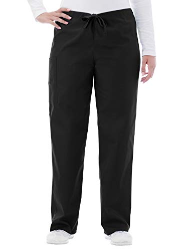 White Swan Fundamentals 14920 Unisex Drawstring Scrub Pant Black L