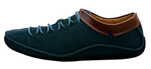 Guciheaven Mens 2015 New British Style Low Top Lace Up Casual Shoes(9.5 D(M)US, Acid blue)