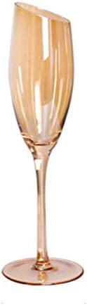 Copas de vino 2 PCS Distinguished Art 200-600ml Oblique Cut Cubier Barra de la familia Barra de arco iris Color Smoky Grey Amber Red Wine Cup Champagne Wine Webware Copa de vino ( Color : Yellow )