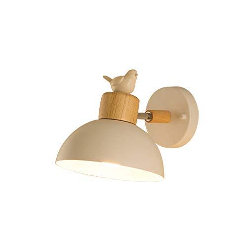 GaoHX Wandlampe Wandleuchte, Nordic Wandleuchte Schlafzimmer Nachttischlampe modernen minimalistischen kreative Persönlichkeit Beleuchtung Wohnzimmer Flur Lesung Kinder Wandleuchte