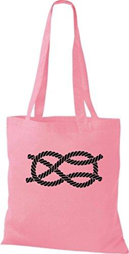 Nodi Nodo Croce Shirtinstyle Cotone Di Marinaio Motivo Panno Vela Rosa Borsa tq7OAw