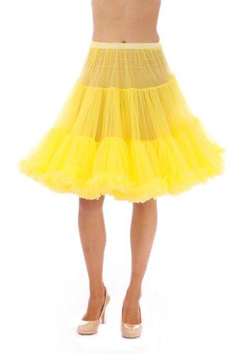 Malco Modes Luxury Vintage Knee-Length Crinoline Petticoat Skirt Pettiskirt, Adult Tutu for Rockabilly 50s Square Dance or Lolita Dress; Plus Size Petticoat Available ()