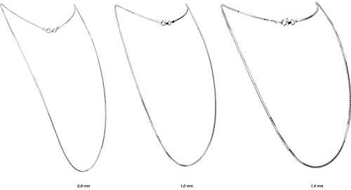 FILANGO Schmuck 925er Silber | Venezianer Kette rhodiniert