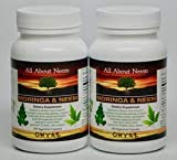 Cheap Moringa Neem Leaf Capsules Organic – High Potency (2 bottle set) 120 Count- Made in USA