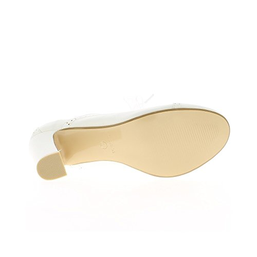 Talons Femme Richelieux De Blancs Grande Taille 10cm À w1B8qX1
