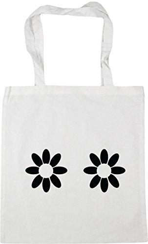 litres Gym 42cm 10 Beach Bag HippoWarehouse Shopping x38cm Daisy White Tote pattern qx7pWR1vfw