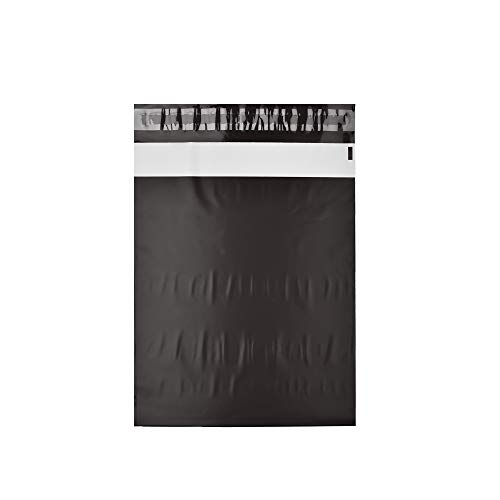KKBESTPACK 100 Black 10x13 inch Poly Mailers Shipping Envelope Plastic Bags Self Seal Adhesive