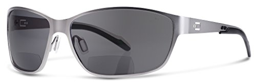 AV1 Bifocal Reading Sunglasses | Sun Readers Designed for Aviators and Casual Use With Wrap-Around Fit | Made from Highest Quality Materials (Stainless Matted Frame / Smoke Lens, - Sunglasses Around Wrap Aviator