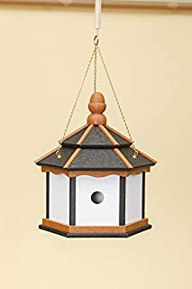 product image for DutchCrafters Poly 3-Hole Hexagon Birdhouse (Black/Cedar/White)