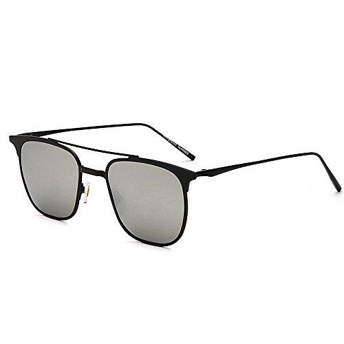 Novedad polarizadas Gafas de personalidad que de los de del rayos estilo de día sol sol metalizadas del conducen Regalo la tonos de diseñador de de hombres Plata la los Bril padre protección sol gafas del rEwUrq