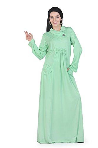 Momin Libas Aquamarine Polyester Knit Abaya & Burkha